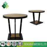 Table ronde en bois personnalisée à extrémité élevé d'assurance commerciale pour la salle à manger