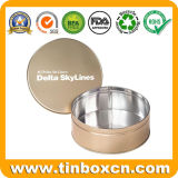 空の円形の食糧記憶の錫ボックス金属のくだらない缶