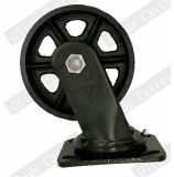 Heavy Duty Iron Fixed Caster Wheel (All black)