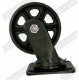 철 조정 피마자 바퀴 (전부 검정)