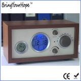 De multifunctionele Temperatuur van de Wekker toont Houten Retro RadioFM (xh-fm-018)