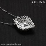43452 Xuping 한국 목걸이, Swarovski 숙녀 화이트 골드에서 결정은 보석을 디자인한다
