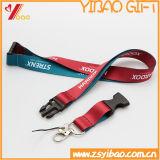 Изготовленный на заказ талреп полиэфира логоса печатание экрана с крюком безопасности (YB-LY-12)