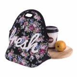 Conteneur de nourriture imperméable à l'eau isolé thermique de déjeuner du néoprène de mode de sac de femmes de gosses de bébé de sacs d'emballage occasionnel portatif de cadre Alb394m