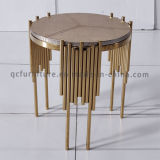 Table basse simple ronde d'acier inoxydable
