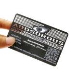 Adreskaartje van pvc van de Druk van de Grootte van de Creditcard van de douane Cr80 het Transparante