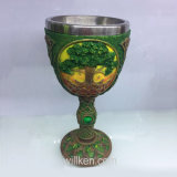 Украшение штанги чашки и кружки кубка вина нержавеющей стали чашки кружки золота Египта смолаы