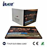 7 дюймов - брошюра видео- карточки экрана LCD высокого качества видео- с изготовленный на заказ печатание