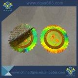 Etiqueta engomada vacía evidente modificada para requisitos particulares del holograma del residuo del pisón con número de serie