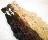 Massa non trattata dei capelli umani di Remy del Virgin grezzo brasiliano dei capelli