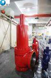 Sprung-Eingabe-hilfsgesteuertes Druck-Sicherheits-Sicherheitsventil des Kohlenstoffstahl-A216 Wcb mit Edelstahl-Düse