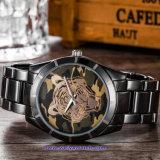 De Polshorloges van de Manier van het Horloge van het Kwarts van de Mens van het Embleem van de douane voor Mensen (wy-17017D)