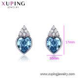 Горячие продажи простой дизайн кристаллов в форме сердца с кристаллами Swarovski Большой Камень шпильки крепления серьги в основную часть