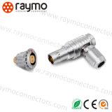 Conector de metal Lemos Fhg 0b 2 clavijas macho acodado macho de 90 grados