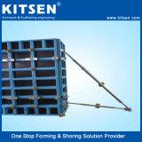 Los elementos prefabricados de peso ligero de aluminio de la pared de encofrados