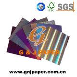 Revestido de color pastel de papel metalizado junta