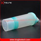 bottiglia di plastica dell'agitatore della proteina 600ml con 2 lo scompartimento (KL-7029)