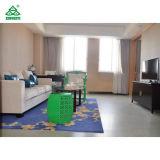 Großer Hotel-Suite-Schlafzimmer-und Wohnzimmer-hölzerner Schlafzimmer-Möbel-König Size
