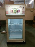 Congelador do indicador de Gelato mini com congelador do gelado da porta de vidro de três camadas o mini do vértice