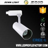 Cubierta accesoria del carril de la luz LED 30W Tracklight de la pista del precio de la luz de la antorcha de la agilización S010