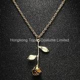 Gevoelig nam de Charme toe van de Halsband van de Tegenhanger van de Bloem de Gouden Zilveren Schoonheid de Halsband toenam van Juwelen (EN04)