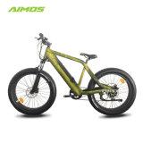 隠された電池が付いている10の速度ギヤ下り坂のフォークの電気自転車