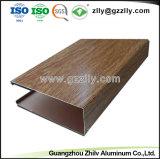 """El grano de madera de Facotry en forma de """"U"""" suspendió el techo de aluminio del bafle para el aeropuerto"""