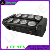 luz principal móvil de la araña de la viga LED de la etapa 8X10W