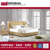Cama de cuero de color amarillo para dormitorios (FB3071)