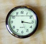 Logotipo personalizado Mini reloj Metal insertos con movimiento de cuarzo de Japón