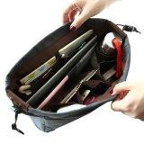袋のオルガナイザーの丈夫な10のポケット携帯用キャンバスのハンドバッグの挿入袋