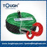 Green 10.5mm ATV UTV Winch Line ATV Synthetic Winch Rope Synthetic Winch Cables