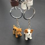 Beste verkaufende lederner Seil-Kfz-Kennzeichen-Welpen-Schlüsselkette