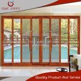 Porta deslizante de vidro dobro de alumínio resistente para residencial gama alta