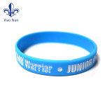 Custom bracelete de borracha de silicone Banda Pulseira com Design Debossed