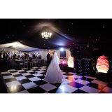 Pistes de danse noires et blanches en bois d'étage de danse de Dance Floor de mariage