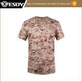 Camuffamento respirabile di secchezza rapido delle magliette di assalto del O-Collo di sport esterni di Esdy