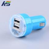 Qualcommは速い充電器2 USBのポートのタイプCを/LEDを持つスマートなICユニバーサル車の充電器証明した