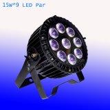 Wasserdichtes im Freien9*15w RGBWA 5 in 1 LED-NENNWERT Licht