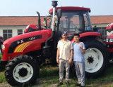 trattore agricolo a ruote 150HP di agricoltura di 80HP 90HP 100HP 120HP con il caricatore della parte anteriore della baracca del A/C
