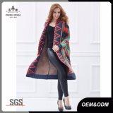 Frauenüberformatknit-Strickjacke-lange Wolljacke