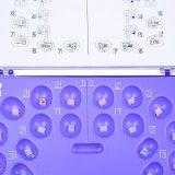 Mini Roth 022 hameçons 345 Sapphire clair le support en céramique