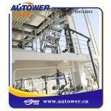 移動式ローディングによってスキッド取付けられるシステムのためのアルミニウムか鋼鉄足場の梯子のプラットホームを折る