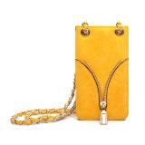 밝은 노란 Zip는 꾸몄다 긴 결박 전화 상자 부대 (MBNO043119)를