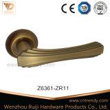 Klassische goldene Hebel-Tür-Griffe auf Rose mit Röhrenverriegelung (Z6384-ZR05)