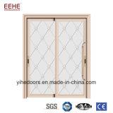 Volet de la grange de verre double poche de vitre de porte Portes porte en alliage en aluminium