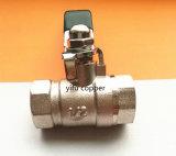 工学水弁の女性の真鍮の球弁(鋼鉄ハンドル)