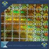 Etiqueta engomada evidente del holograma del laser del pisón del número del código de barras
