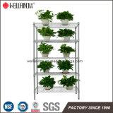 Лучшее качество Silver 5 полки крытый сад цветов и растений на дисплее металлические стойки для хранения