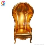 フォーシャンの家庭的な家具の金の王位の王および女王の椅子の結婚式の椅子